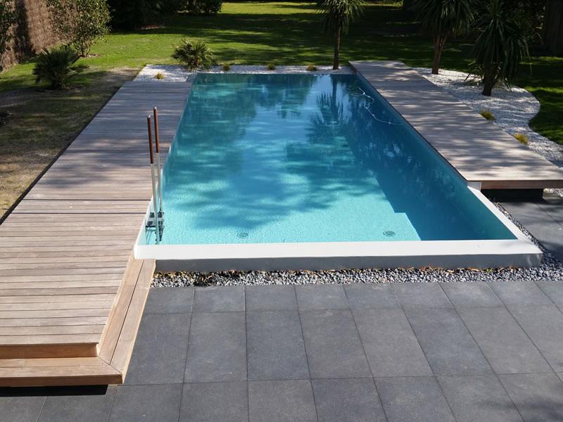 Terrasse bois dalle piscine diverses id es de conception de pa - Photo terrasse piscine ...